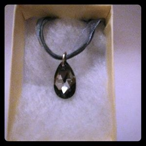Jewelry - Midnight Black Crystal Teardrop Necklace